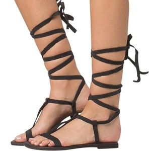 Free People Dahlia lace up sandals